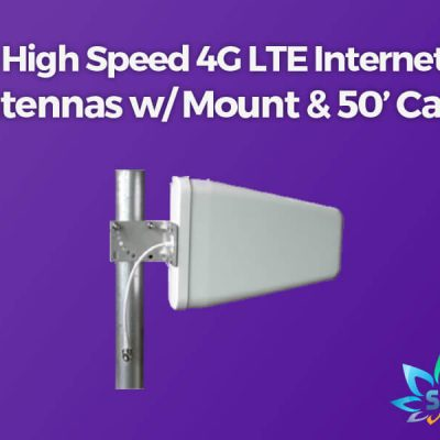 High Speed Internet LTE antenna with mount and cables